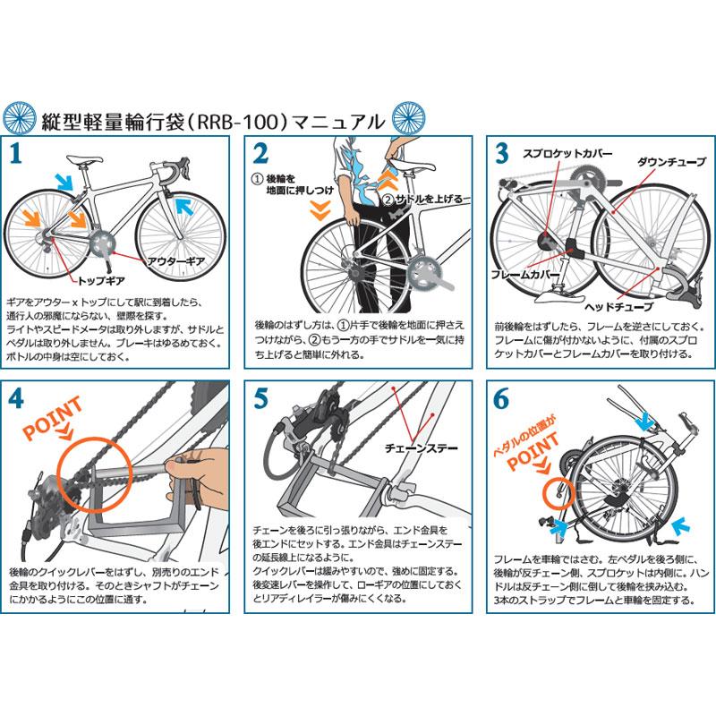 【特急】R250 縦型軽量輪行袋 ブラック フレームカバー・スプロケットカバー・輪行マニュアル付属