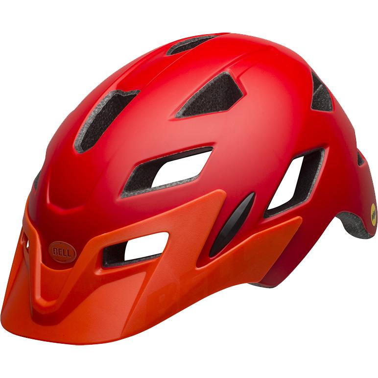 ベル サイドトラック マットレッド/オレンジ ヘルメット