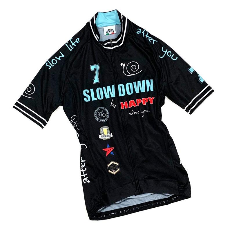 セブンイタリア Slow Down II Lady Jersey ブラック レディース
