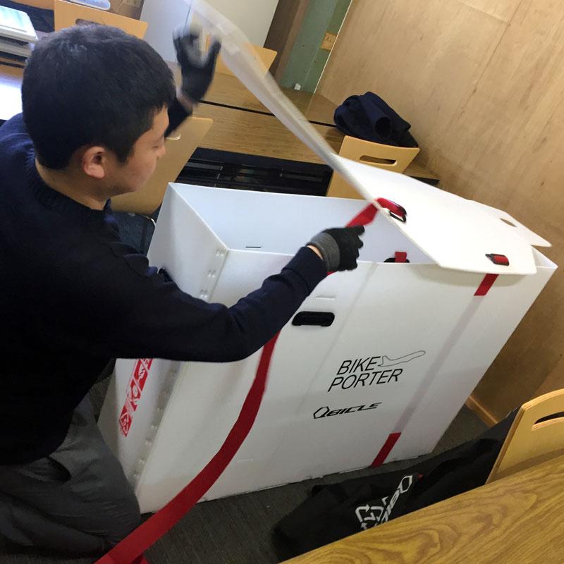 ★【同梱不可】キュービクル バイクポーター(Bikeporter) スタンダードサイズ ホワイト ベルト2本付