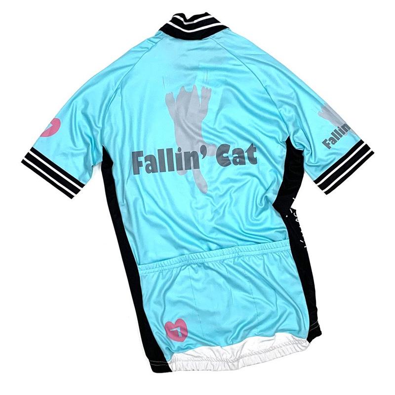 セブンイタリア Fallin' Cat Lady Jersey Celeste グリーン レディース