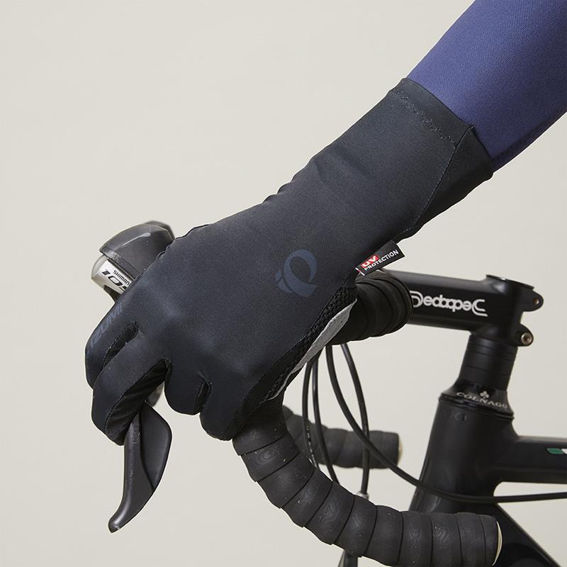 【M便】パールイズミ 【28】UV フルフィンガー グローブ 1.ブラック タッチパネル対応