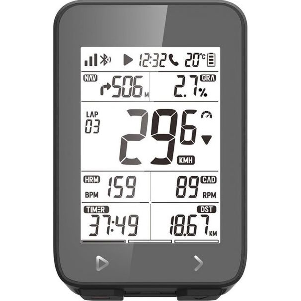 iGPスポーツ サイクルコンピューター iGS320 GPS USB充電