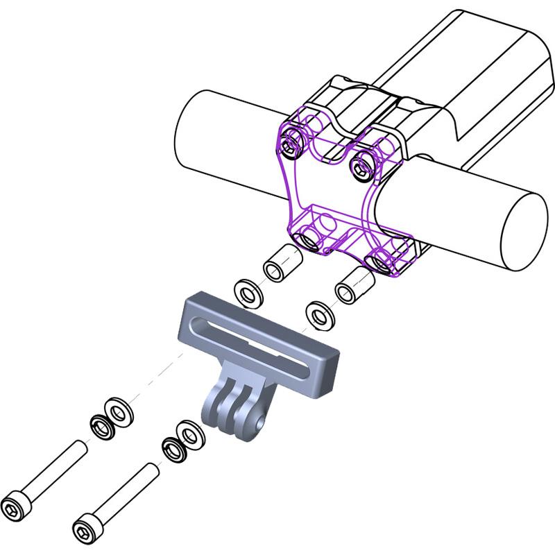 レックマウント VCS-GP ボルトクランプマウント シングルタイプ