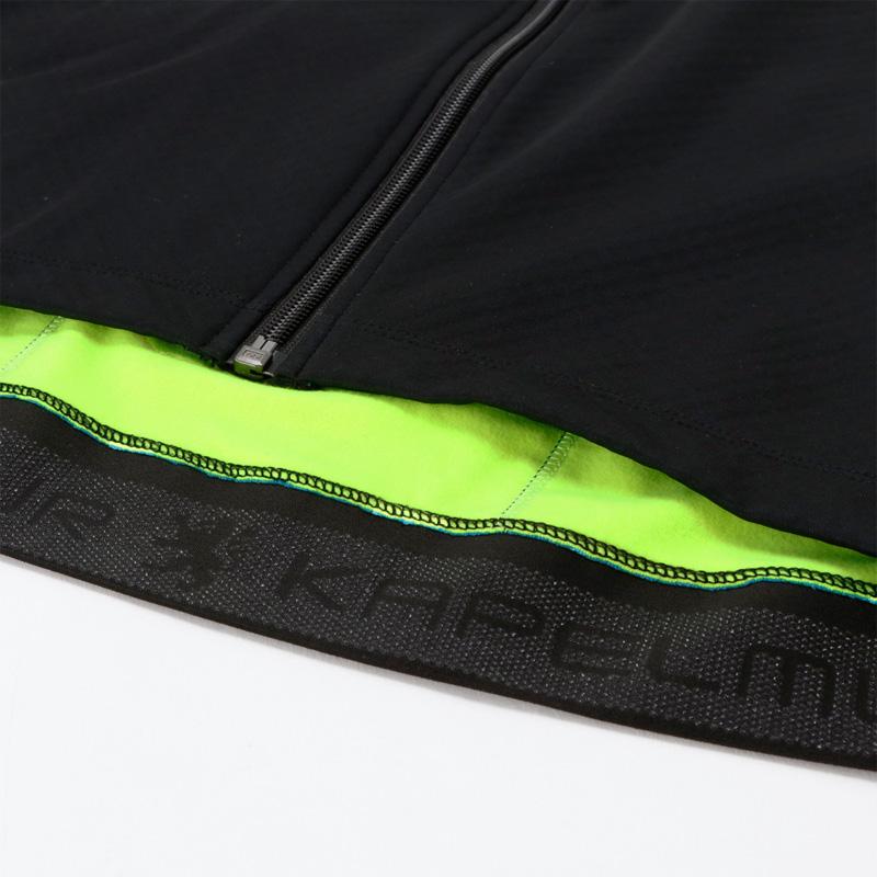 リオン・ド・カペルミュール ウインドプルーフジャケット ブラック×シャインイエロー