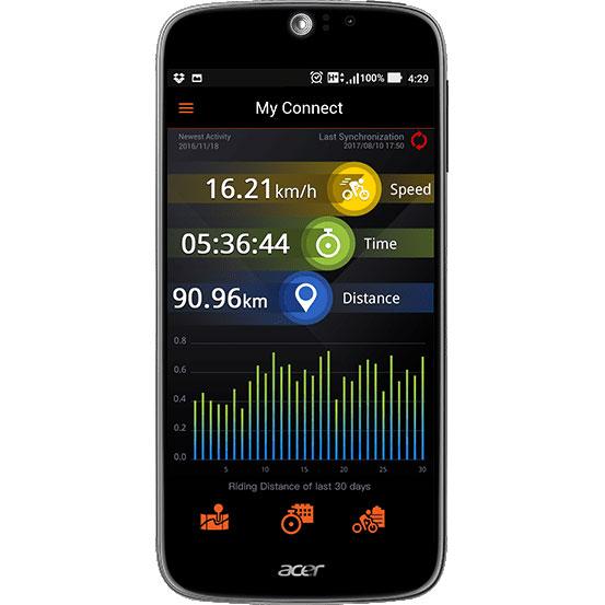 XPLOVA X5 EVO スマートビデオ サイクリングコンピューター GPS カメラ付