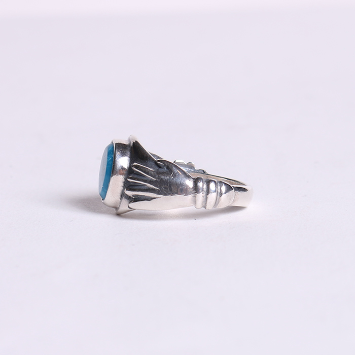 RG-0098 LOVE HAND TURQUOISE RING