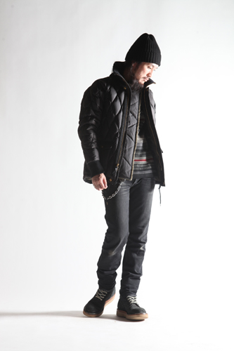 ALL NEW RACING DOWN JKT2 RELAX FIT with WIND GUAR BLK/RED.ST