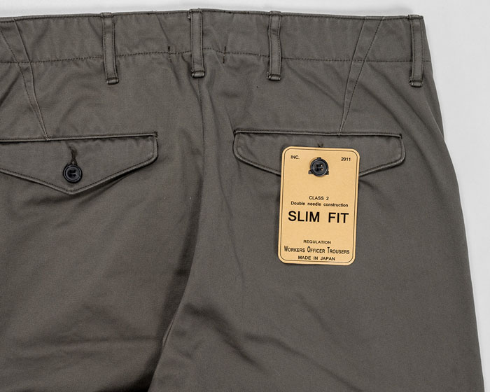 OFFICER TROUSERS SLIM Type2