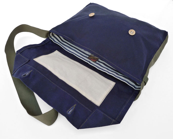 MFSC MADE IN USA WAXED COTTON CANVAS MUSETTE MF7161