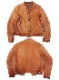 """MFSC """"SPORTMAN"""" MADE IN USA COWHIDE LEATHER CAMPUS JACKET"""