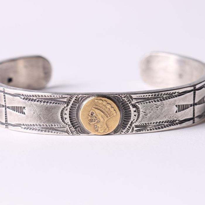 COIN SILVER HEAVY BRACE 10mmSTAMP