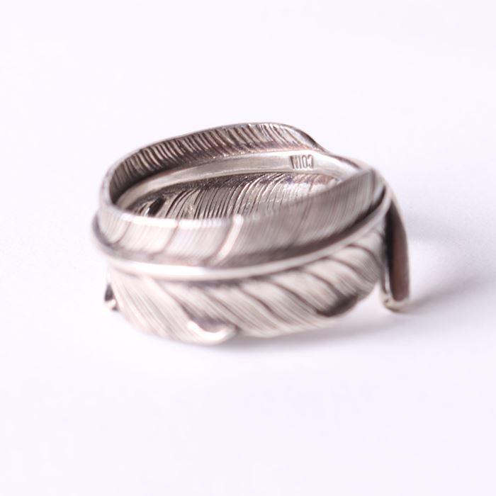 JUNK COIN  SHARP FEATHER RING