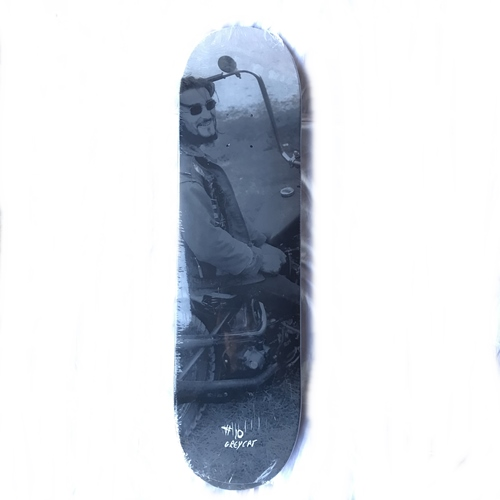 A. OUTLAW POSTER LIMITED SKATE DECK GREY CAT