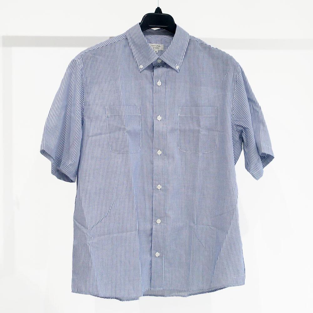 [お得な2枚セット]ゆったりCPOシャツ+ボーダーTee