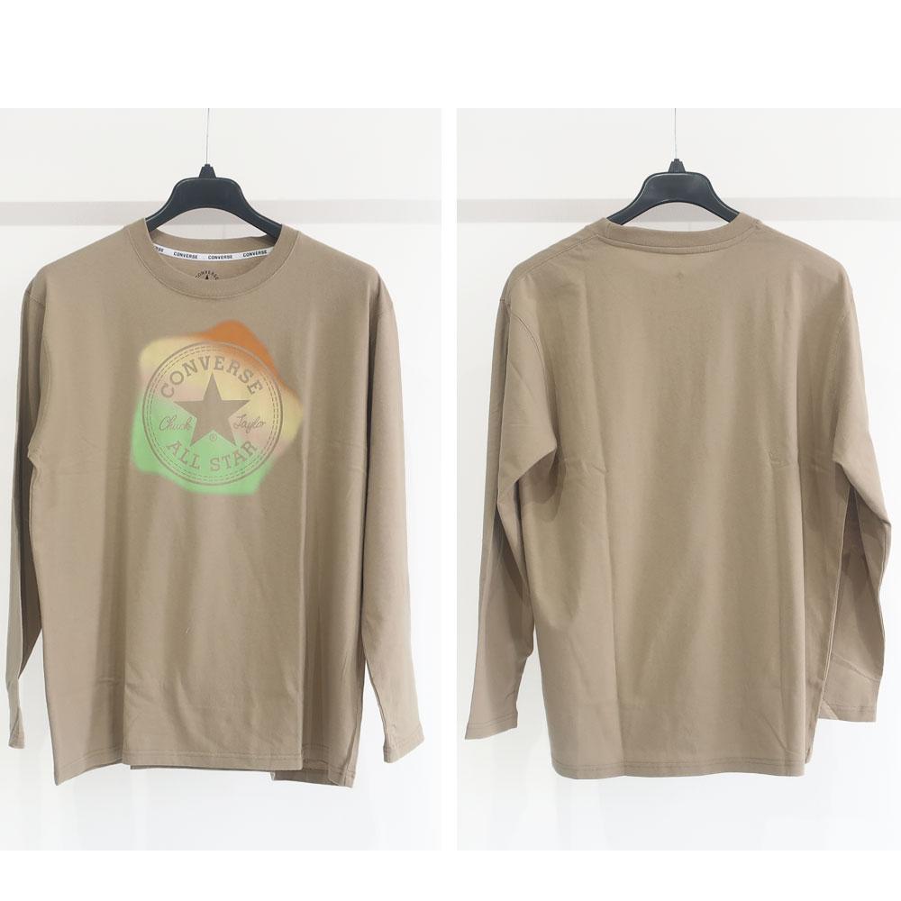 CONVERS 2柄から選べるデザインプリント長袖Tシャツ