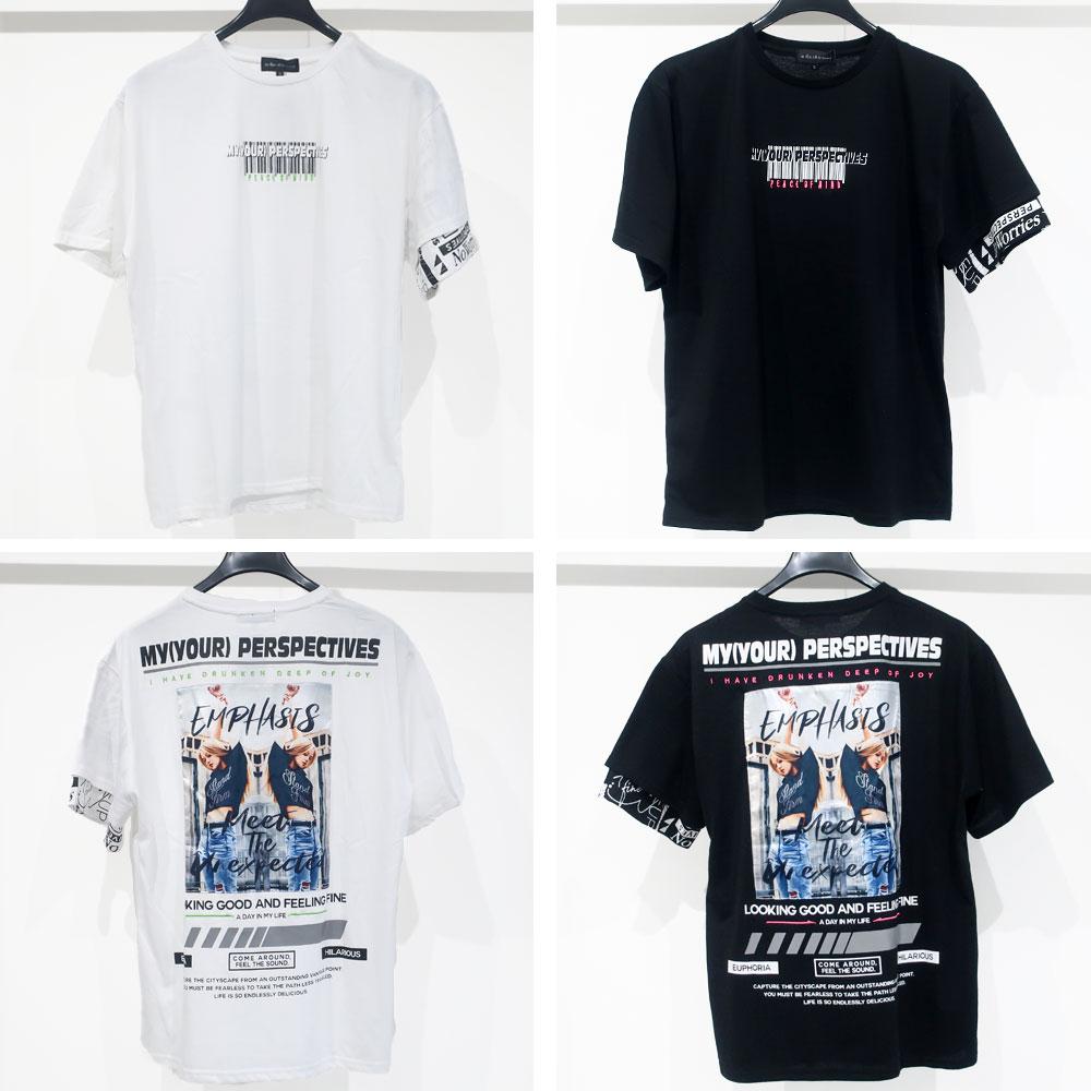 3柄から選べるビッグシルエット半袖Tシャツ
