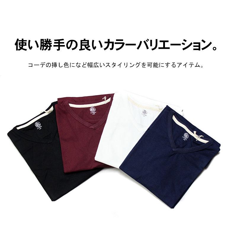 コットン100%のタフなボディーの【V NECK TEE】