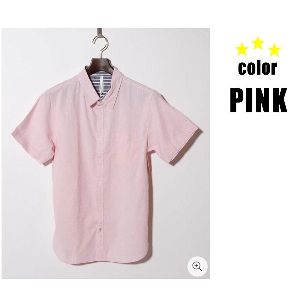 綿麻ストレッチ半袖シャツ