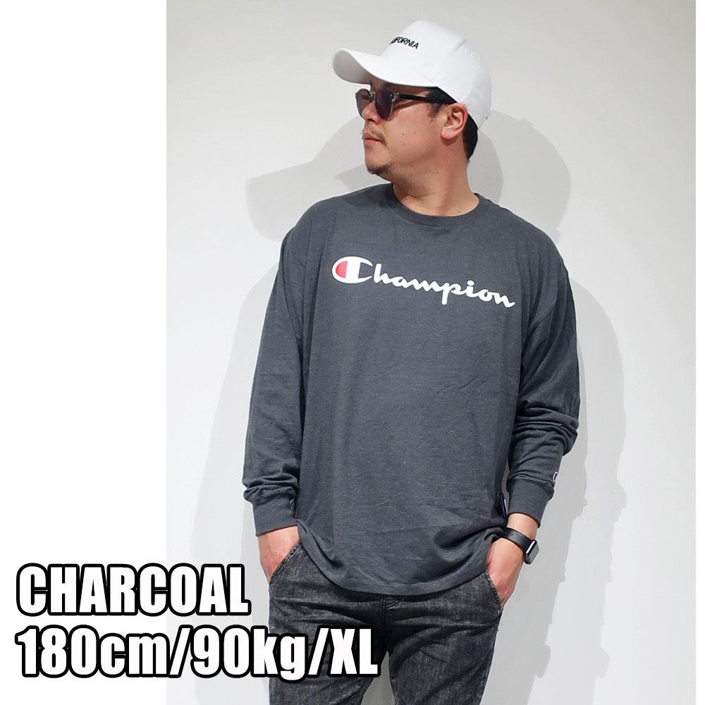 Champion チャンピオン スクリプト長袖Tシャツ メンズ