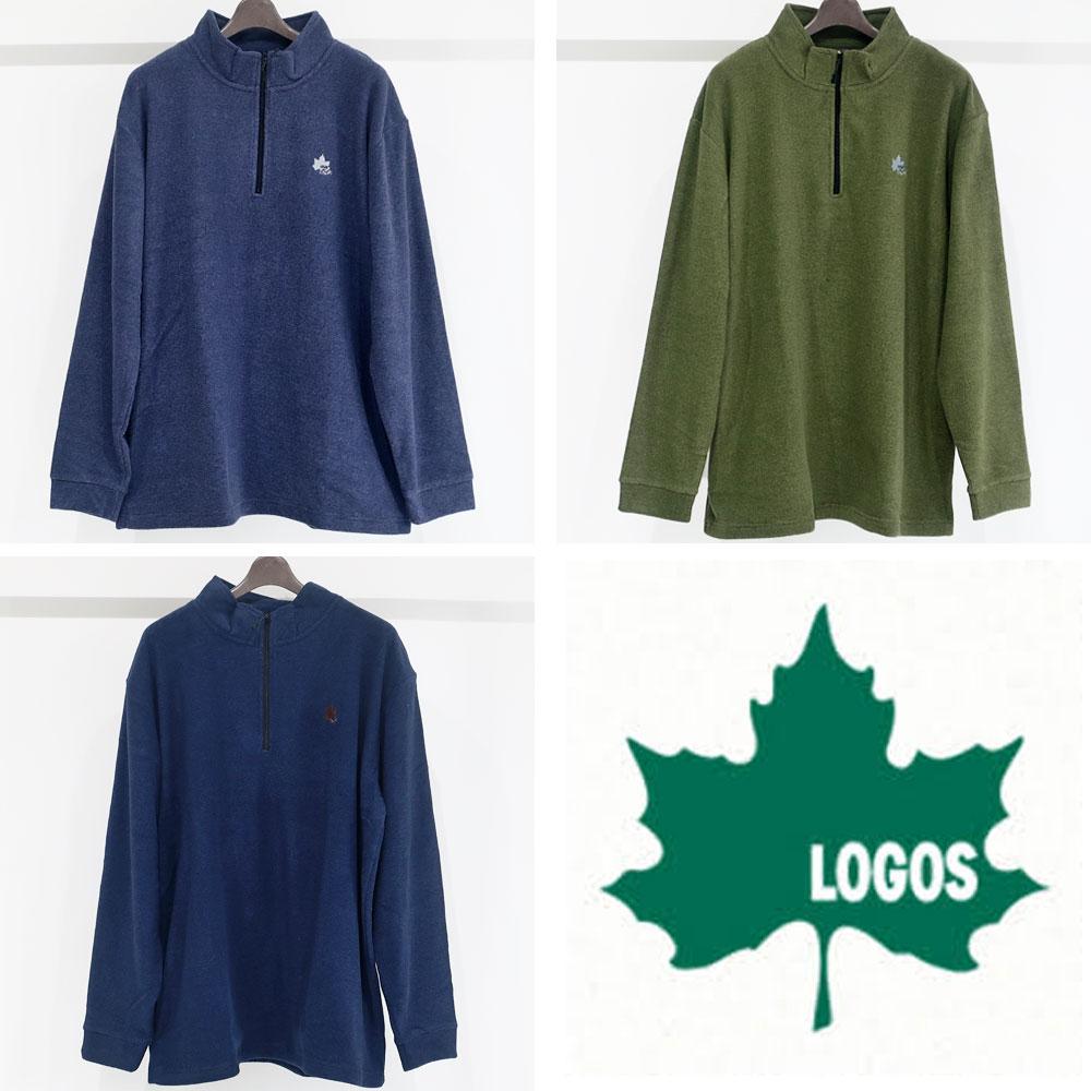 LOGOS ロゴス 軽くて柔らかく温かいフリースハーフジップ