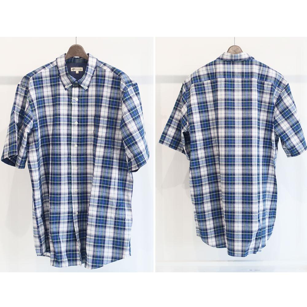 清涼感のあるアメカジど真ん中の綿麻チェックシャツ
