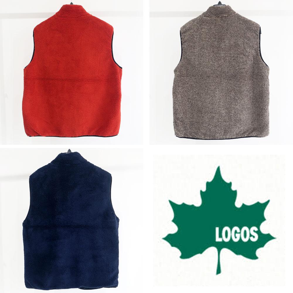 LOGOS ポケット付きボアベスト