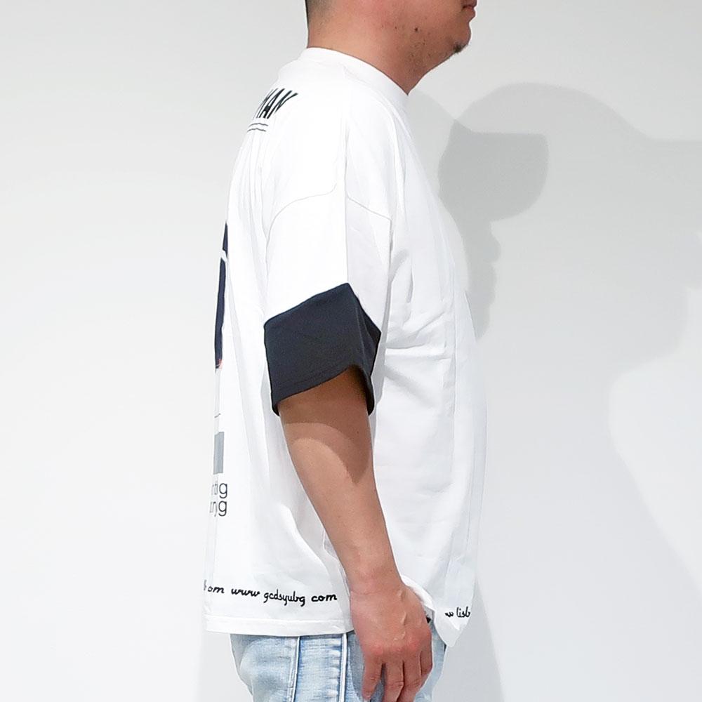 袖切り替え半袖Tシャツ