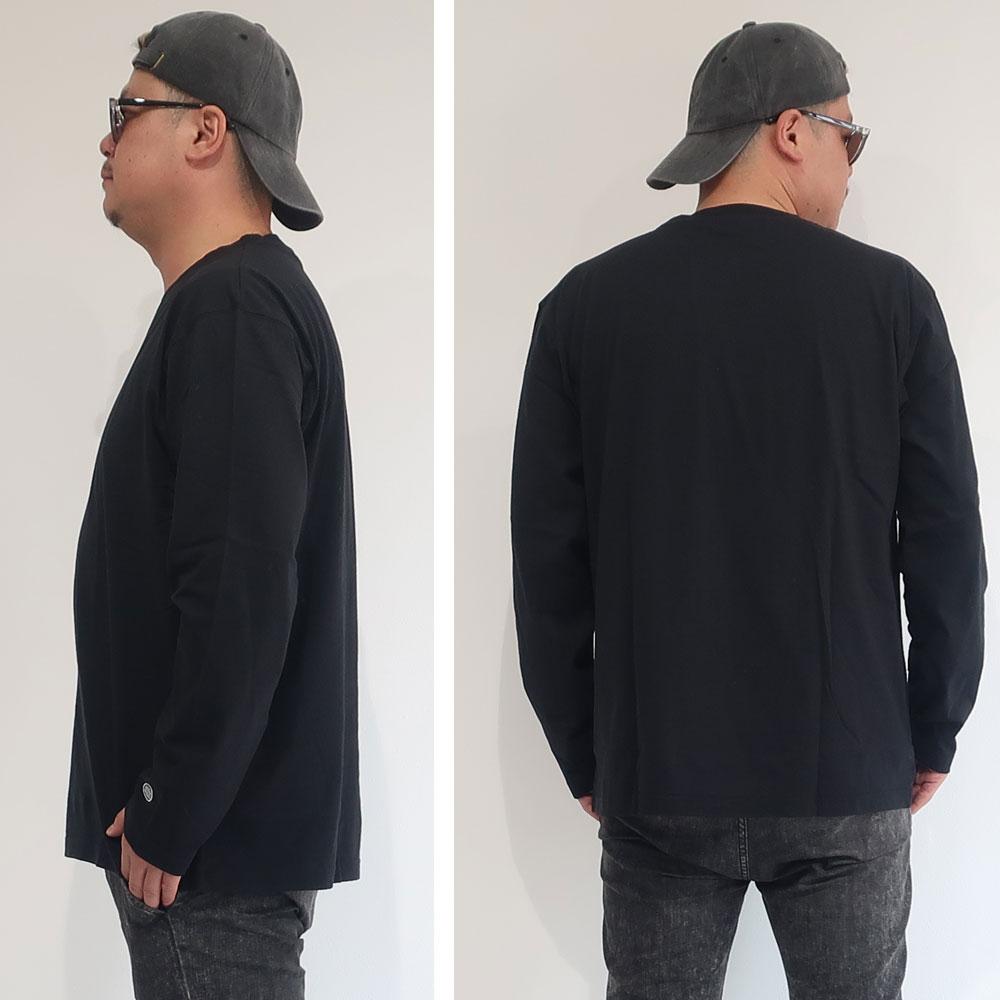 DISCUS 毎日着たくなるコットン100%のシンプル長袖Tee
