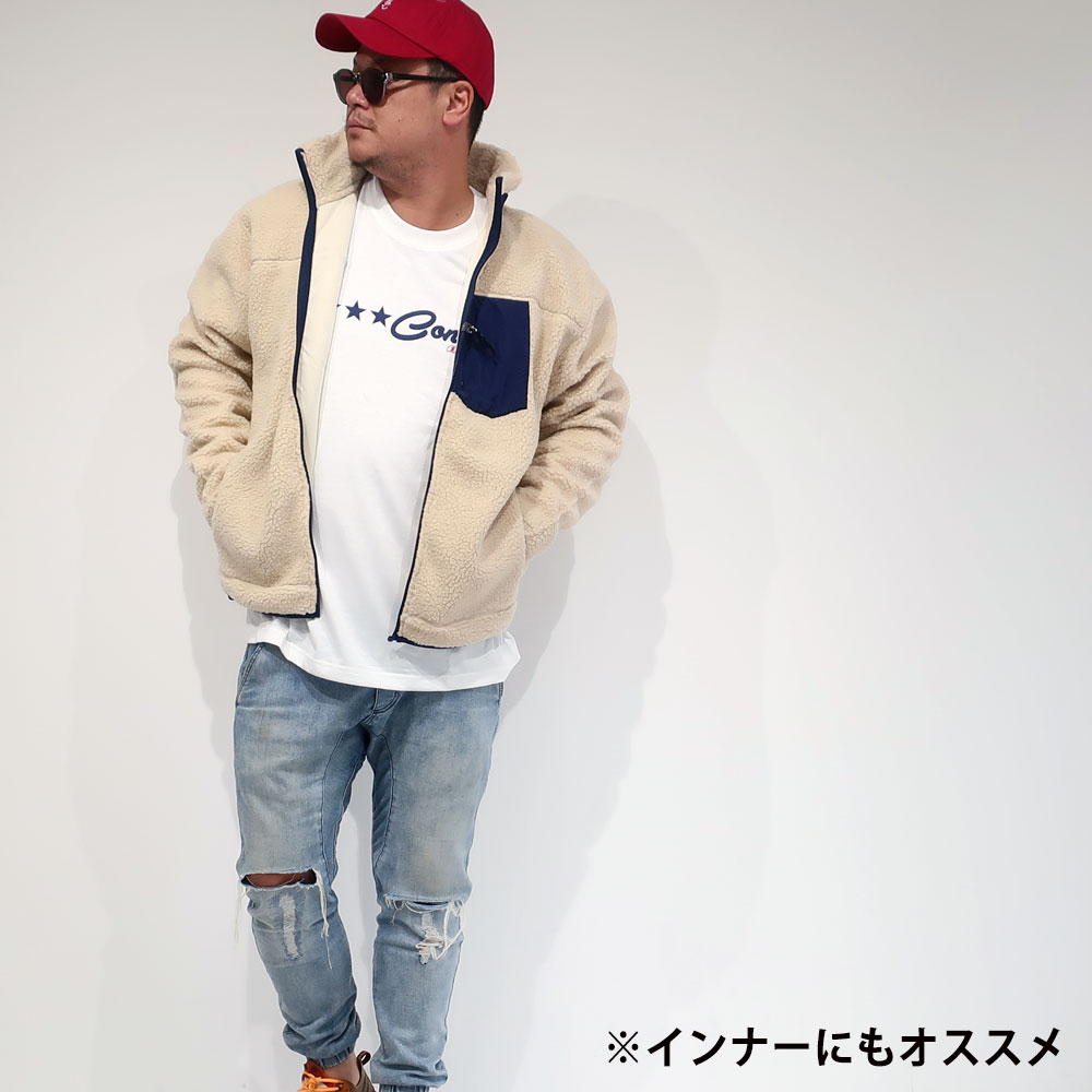 CONVERS デザインプリント長袖Tシャツ