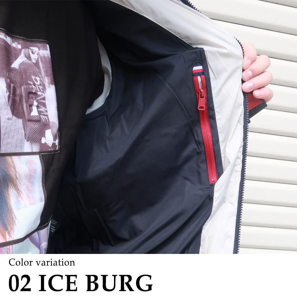 【トミーヒルフィガー】胸にワンポイントの中綿スタンドジャケット