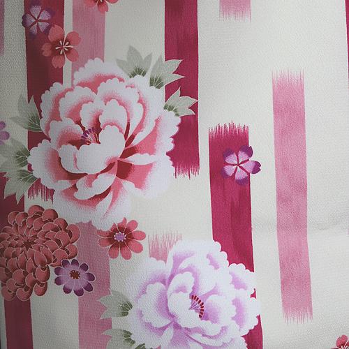 格安!袴レンタル 成人式 卒業式 白 ピンク 紫 かすり イチマツ模様【送料無料】st16