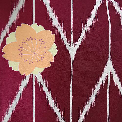 格安!袴レンタル 成人式 卒業式 赤字矢がすり 黄色桜 【送料無料】 st01