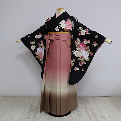 格安!袴レンタル 成人式 卒業式 ナカノヒロミチ L 2.5 【送料無料】 st12