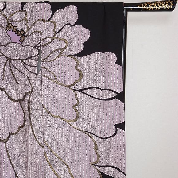 格安!振袖レンタル 成人式 白 紫 ブラック ピンク 手毬【送料無料】【試着可能】51003