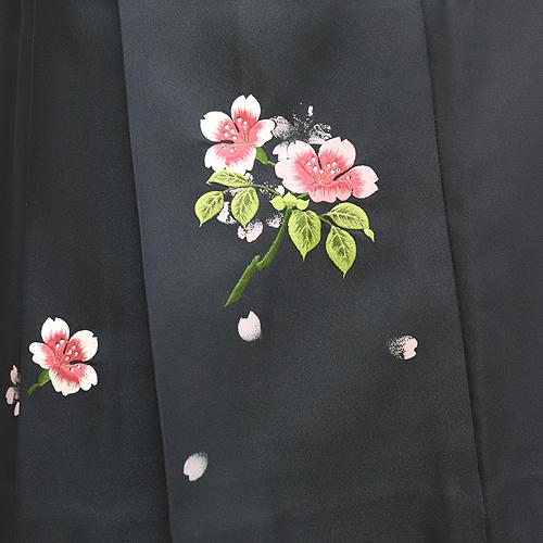 格安!袴レンタル 成人式 卒業式 オレンジ桔梗刺繍/グレー刺繍 【送料無料】 st11