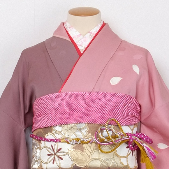 格安!振袖レンタル 成人式 赤 ピンク ナカノヒロミチ【送料無料】【試着可能】51004