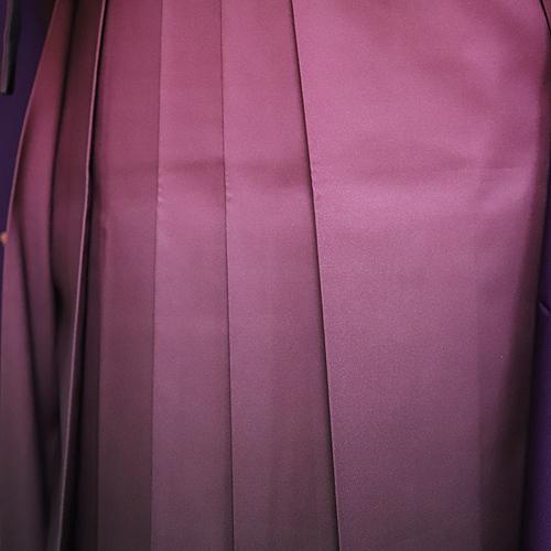 格安!袴レンタル 成人式 卒業式 卒業袴 (セツト) 紫小花L・ワインボカシ2.5 【送料無料】 sg24