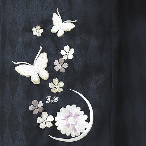 格安!袴レンタル 成人式 卒業式 白地ぼたんと蝶 【送料無料】 st26