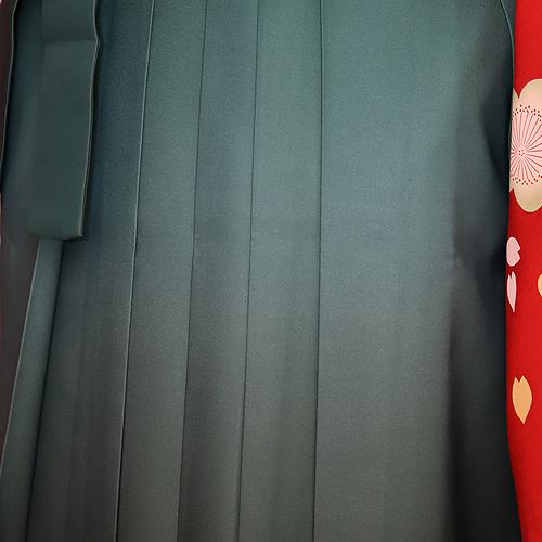格安!袴レンタル 成人式 卒業式 卒業袴 (セツト) 赤地梅と蝶1.75・グリーンボカシ2.5 【送料無料】 sg32