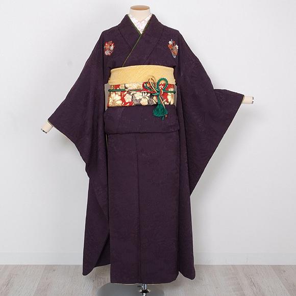 格安!振袖レンタル(2〜11月) 卒業式 結婚式 紫色 無地【送料無料】【試着可能】51046