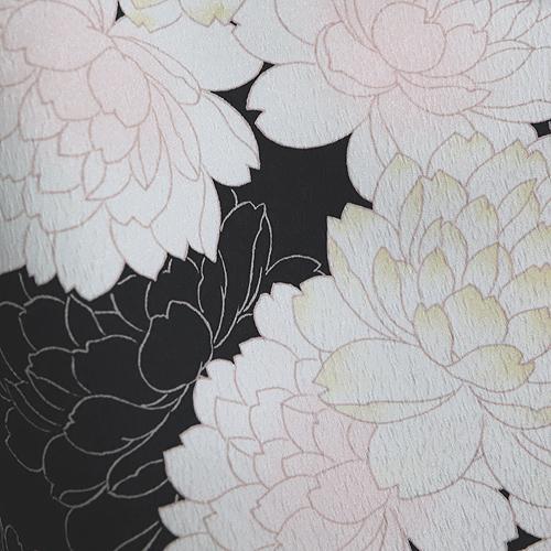 格安!袴レンタル 成人式 卒業式 黒字に白の牡丹 【送料無料】 st17