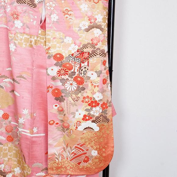 格安!振袖レンタル 成人式 ピンク 清楚【送料無料】【試着可能】51052