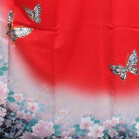 格安!振袖レンタル 成人式 ピンク 赤色 バラ【送料無料】【試着可能】51058