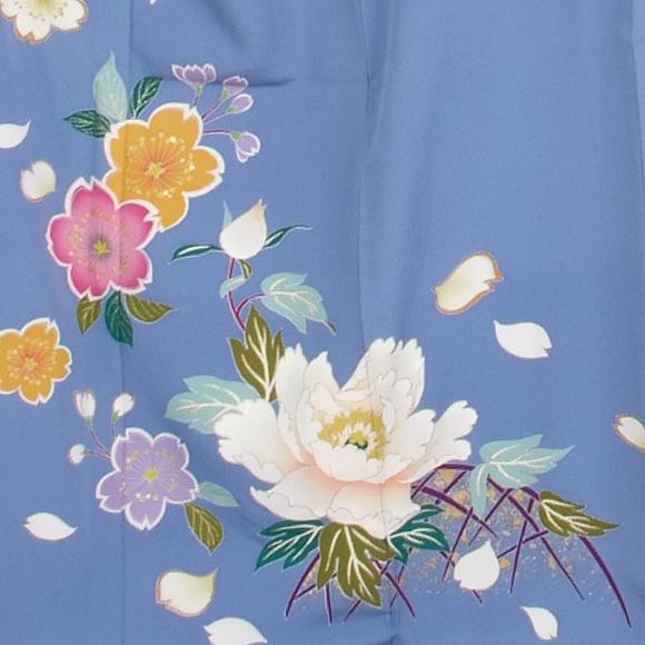 格安!振袖レンタル(2〜11月) 卒業式 結婚式 パステルブルー 牡丹 桜【送料無料】【試着可能】51075