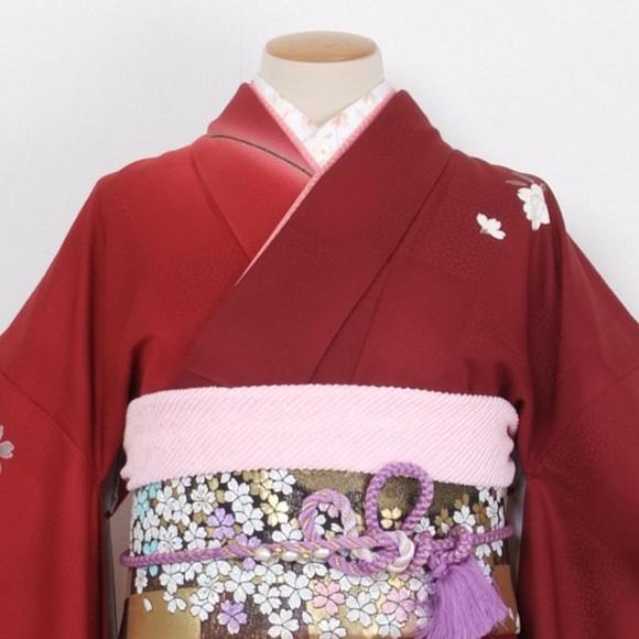 格安!振袖レンタル(2〜11月) 卒業式 結婚式 赤色 イチマツ【送料無料】【試着可能】51092