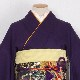 格安!振袖レンタル 成人式 青紫色 手毬【送料無料】【試着可能】51081