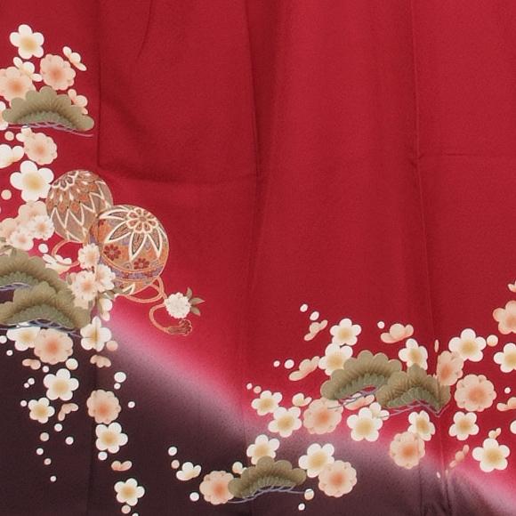 格安!振袖レンタル 成人式 赤色 手毬【送料無料】【試着可能】51090