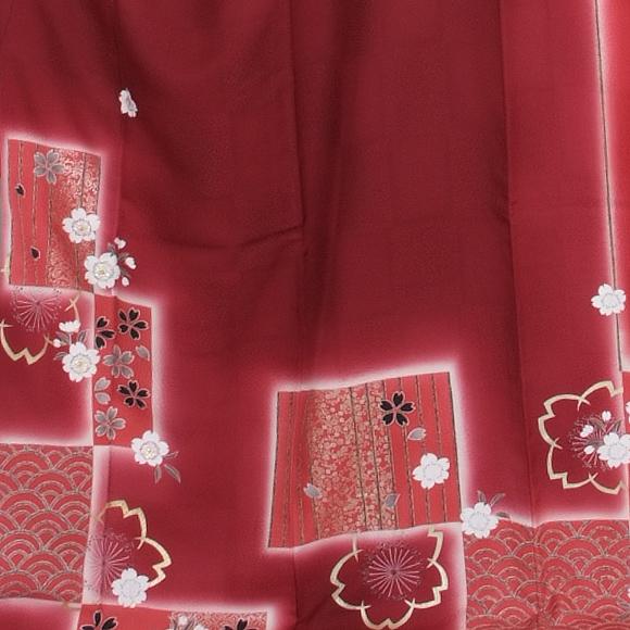 格安!振袖レンタル 成人式 赤色 イチマツ【送料無料】【試着可能】51092