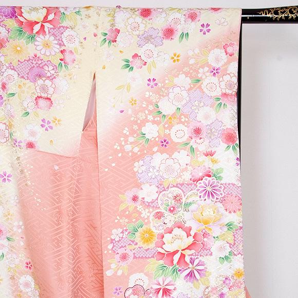 格安!振袖レンタル 成人式  淡ピンクとクリームに小菊 【送料無料】【試着可能】51198